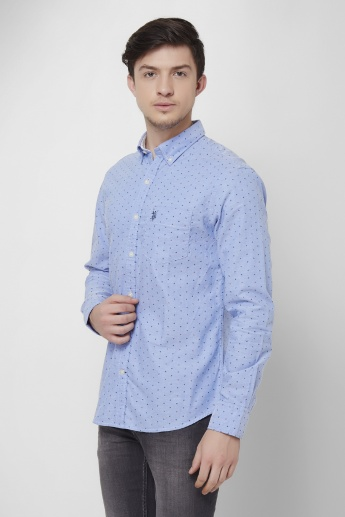 U.S. POLO ASSN. Retro Printed Full Sleeves Shirt
