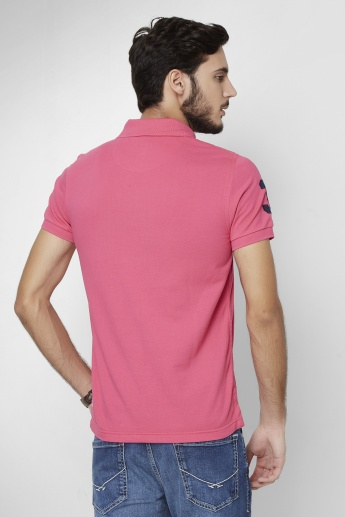 U.S. POLO ASSN. Blush Half Sleeves Polo Neck T- Shirt