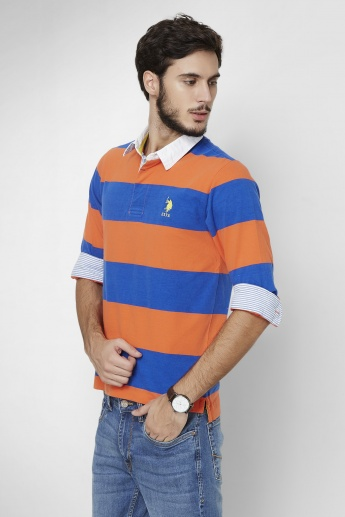 U.S. POLO ASSN. Dual Stripes Full Sleeves T-Shirt