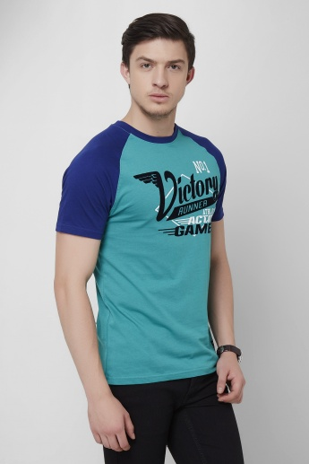 BOSSINI Half Sleeves Graphic Print T-Shirt